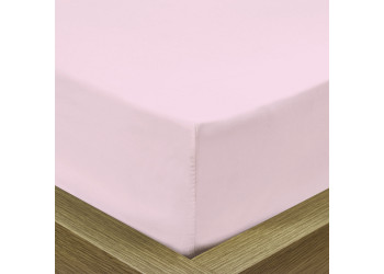 Rest Super soft Fitted sheet 120 X 200 + 25 CM-PINK