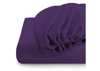 Rest Super Soft fitted sheet 90 x 200 + 20 CM-PURPLE