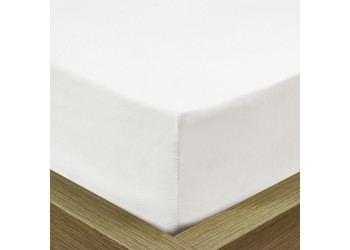 Rest Super soft Fitted sheet 120 X 200 + 25 CM-WHITE