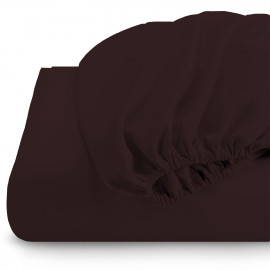 Rest Super soft Fitted sheet 120 X 200 + 25 CM-Brown