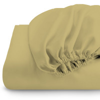 Rest Super soft Fitted sheet 120 X 200 + 25 CM-Mustard