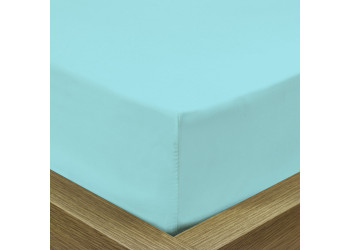 Rest Super soft Fitted sheet 120 X 200 + 25 CM-TURQUOISE