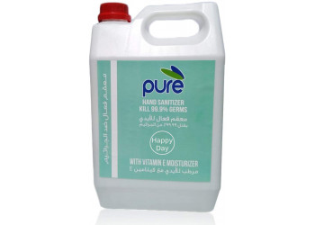 HAND SANITIZER, PURE ANTIBACTERIAL - HAPPY DAY, 5 LITERS