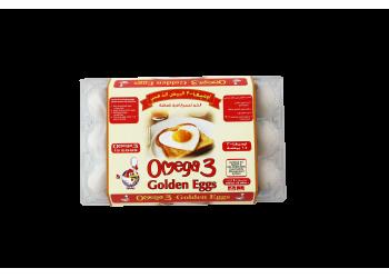 OMEGA 3 GOLDEN EGGS WHITE ( 24 X 15 Per Carton )