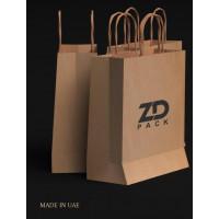 ZDPACK PAPER BAG BROWN TWISTED HANDLE 23x26x10 cm