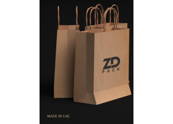ZDPACK | PAPER BAG BROWN TWISTED HANDLE 35x35x17 cm / 250 pcs