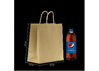 ZDPACK | PAPER BAG BROWN TWISTED HANDLE 30x31x14 cm / 250 pcs