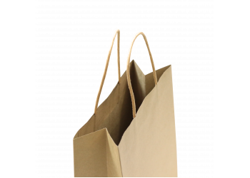 ZDPACK | PAPER BAG BROWN TWISTED HANDLE 29x33x17 cm / 250 pcs