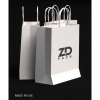 ZDPACK | PAPER BAG WHITE TWISTED HANDLE 23x26x10 cm