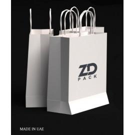 ZDPACK | PAPER BAG WHITE TWISTED HANDLE 23x26x10 cm / 250 pcs