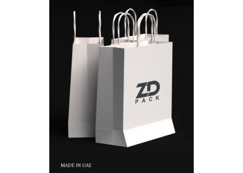 ZDPACK | PAPER BAG WHITE TWISTED HANDLE 30x31x14 cm / 250 pcs