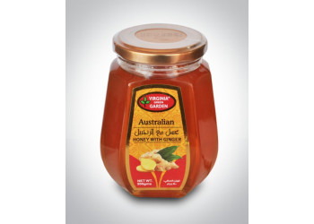 HONEY WITH GINGER FLAVOUR- GLASS 500 Grams ( 12 Pieces Per Carton )