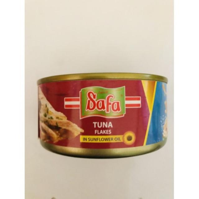 Safa Tuna Flakes Sunflower OIL 160 Grams ( 48 Pieces Per Carton )