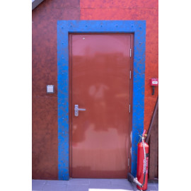 Ballistic Door with Stone Cladding