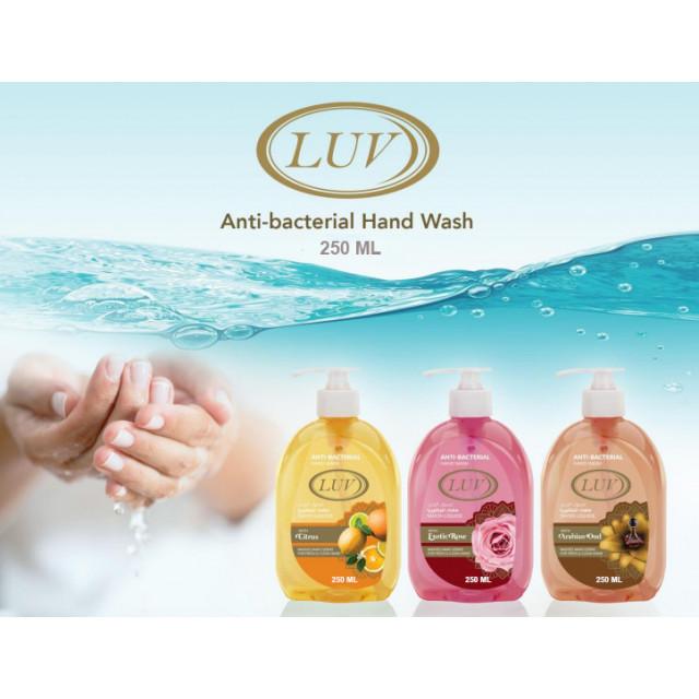 Luv Antibacterial Hand Wash 250 ML ( 24 Pieces Per Carton )
