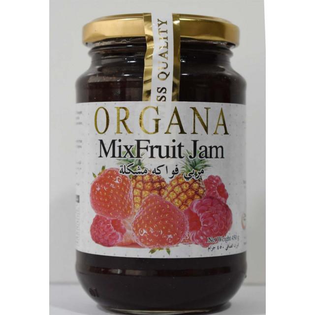 Organa Mixfruit Jam 450 Grams ( 12 Pieces Per Carton )