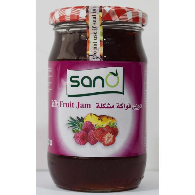 Sano Mixfruit Jam 370 Grams  ( 12 Pieces Per Carton )