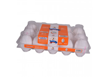 SAHA EGGS WHITE MEDIUM 15s ( 24 Tray Per Carton )