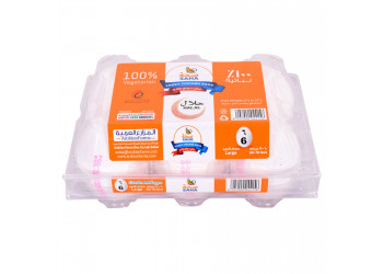 SAHA EGGS WHITE LARGE 6s ( 60 Tray Per Carton )