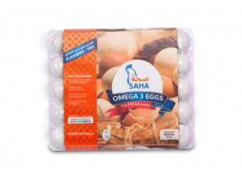 SAHA OMEGA3 EGGS BROWN 30s  ( 12 Tray Per Carton )