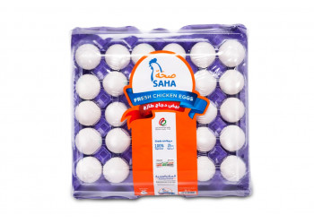 SAHA EGGS LARGE WHITE 30s ( 12 Tray Per Carton )