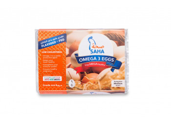 SAHA OMEGA3 EGGS WHITE 6s ( 60 Tray Per Carton )