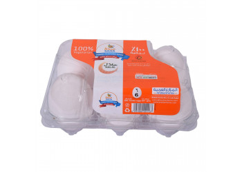 SAHA EGGS JUMBO WHITE 6s ( 60 Tray Per Carton )