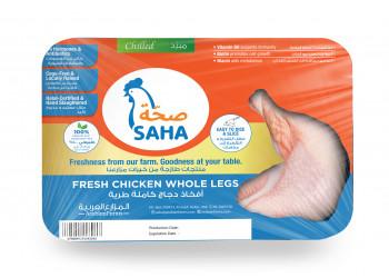 SAHA FRESH CHICKEN  WHOLE LEGS 1000 Grams ( 8 Pieces Per Carton )