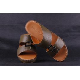 Leather Arabic Sandals Brown4