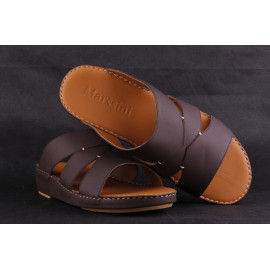 Leather Arabic Sandals Brown3