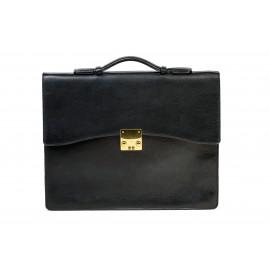 Briefcase Camel Leather ( Black )
