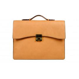 Briefcase Camel Leather ( Caramel )