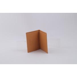 Folding Card Holder Camel Leather