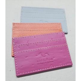 Business Card Holder Camel Leather