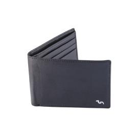 Men's Wallet Camel Leather ( Black )