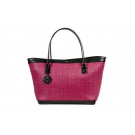 Kareema Goat Woven Leather Bag ( Violet )