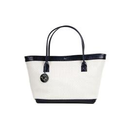 Kareema Goat Woven Leather Bag ( White )