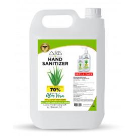 Aris Hand Sanitizer with Aloe Vera 5 Liter ( 4 Pieces Per Carton )