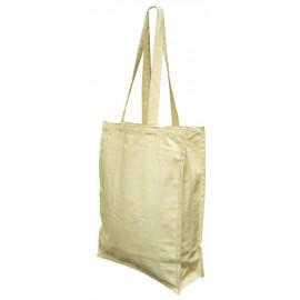 Canvas Dyied Shopping Bag ( H-42cm  X W-38cm  X G-10cm )