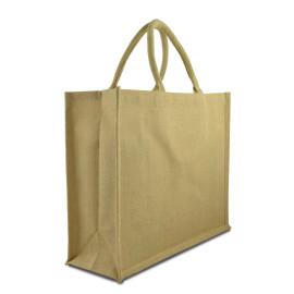 Jute Shopping Bag ( H-26cm X W-22cm X G-10cm )