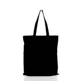Cotton Black Shopping Bag ( 42 cm x 38 cm )