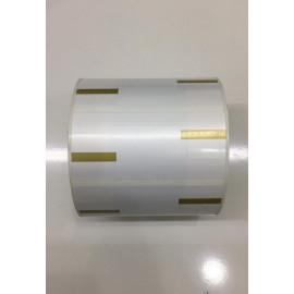 Jewellery Tags – Gold Colour ( 83 mm x 37 mm ) 1000 labels per roll 2000 tags per roll