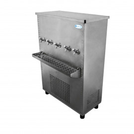 Polar Stainless Steel Water Cooler 100 Gallon, Five Taps