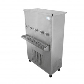 Polar Stainless Steel Water Cooler 150 Gallon, Five Taps