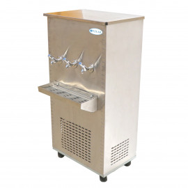 Polar Stainless Steel Water Cooler 65 Gallon, Three Taps