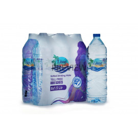 LIWA DRINKING WATER 1.5 Liter ( 6 Pieces Per Carton )