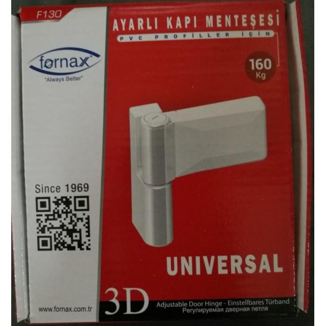 Adjustable 3D Hinges 160kg - White