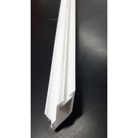 High Class Profile - Glazing Bead 17mm Fix (Double) - White 6MTR