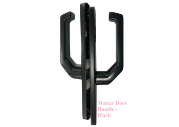 Mostar Door Handle - Black / White