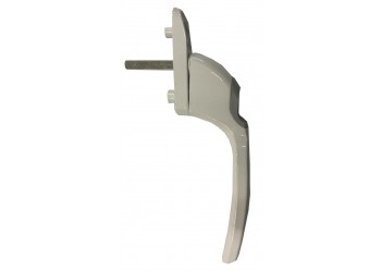 Narrow Window Handle (Zmc.) without Cylinder - L R - Silver/Black/White